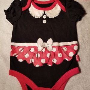 Minnie Mouse baby girl bodysuit